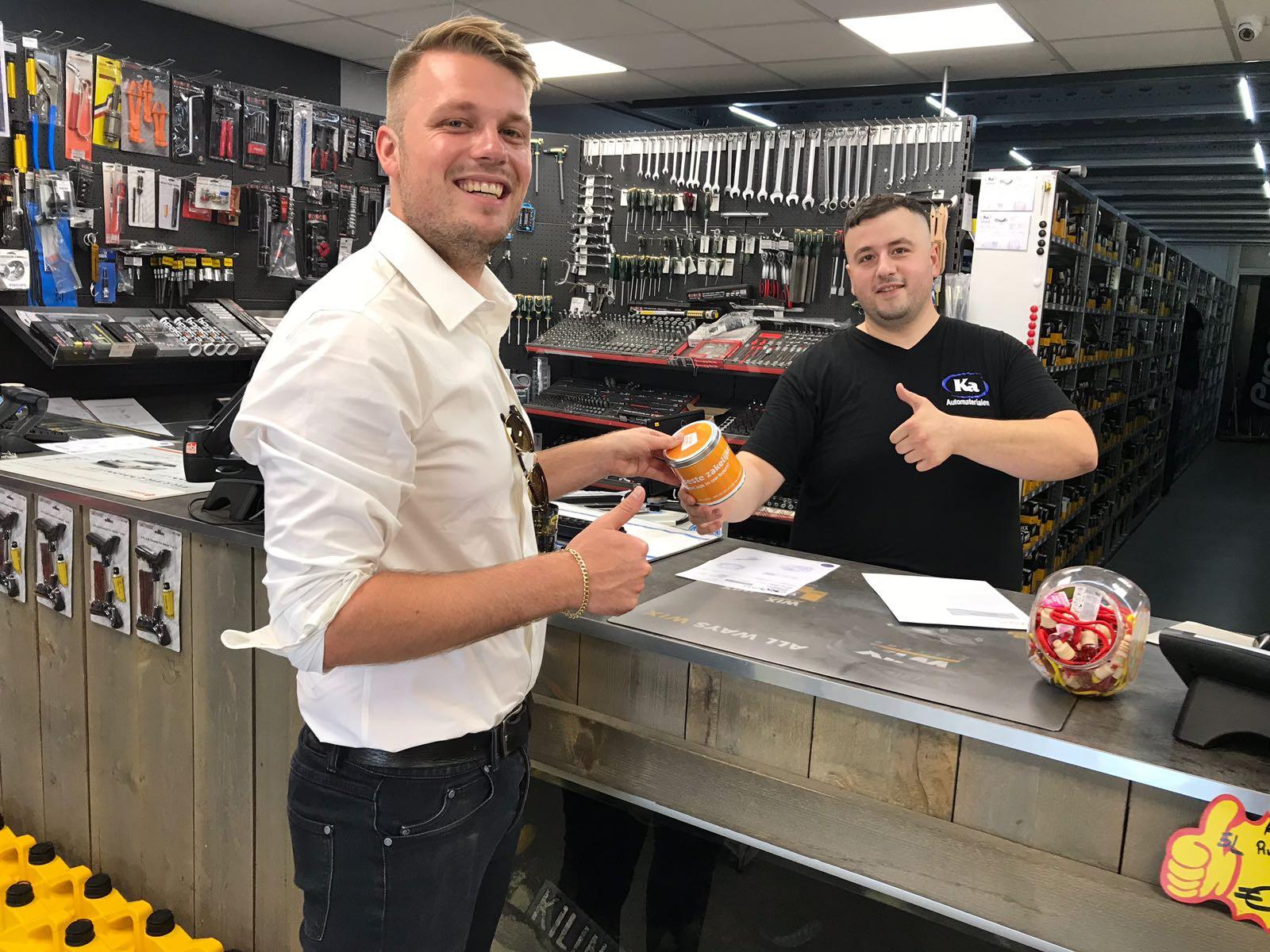 Host maakt klant blij