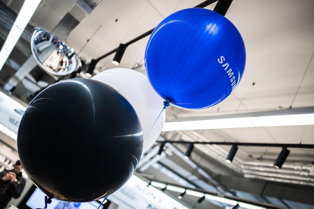 Heliumballonnen maken het plaatje compleet